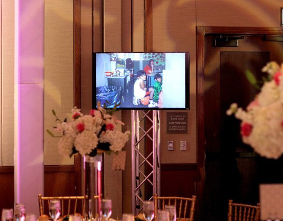 CT Wedding DJ - J&S Entertainment - flat screen monitors